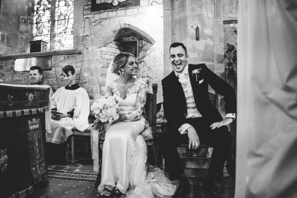ceremony, black and white wedding
